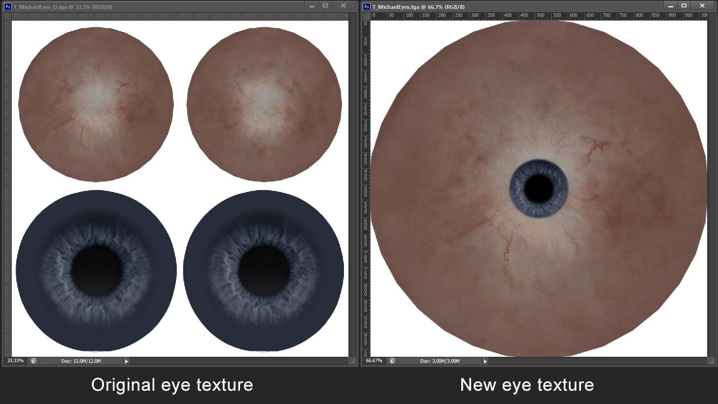New eye texture