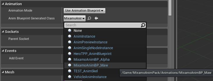 Using mixamo content epic wiki anim blueprint generated class animbp dropdowng malvernweather Choice Image