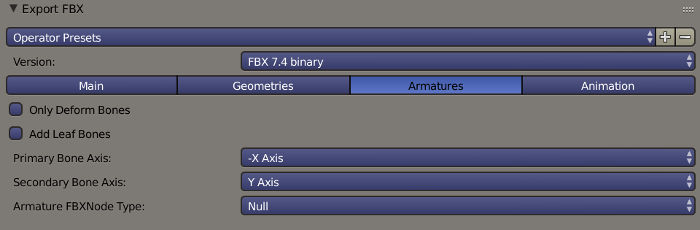 Blender FBX Export Armatures Options.png