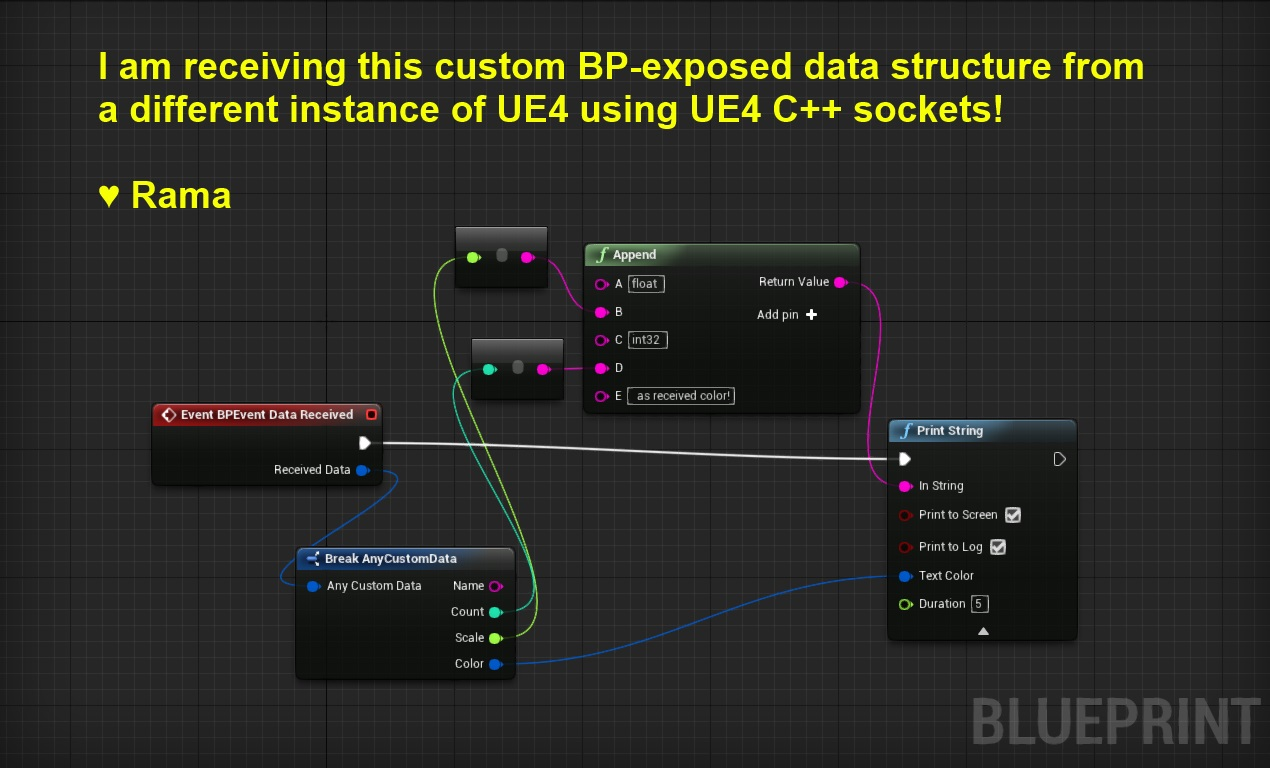 UDP Socket Sender Receiver From One UE4 Instance To Another