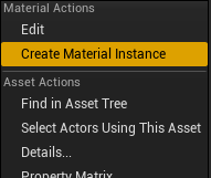CreateMaterialInstance ContextMenu MatLayTut.png