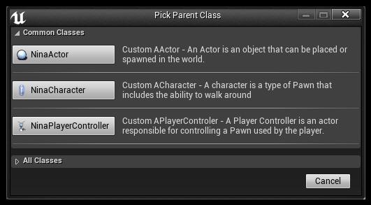 Custom blueprint class picker dialog settings epic wiki purpose malvernweather Choice Image