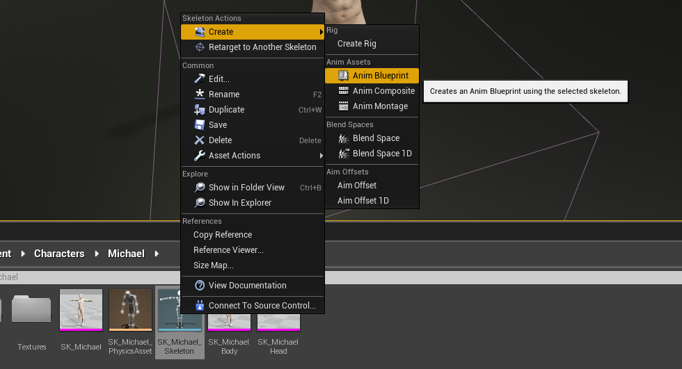 Daz studio to ue4 tutorial part 2 epic wiki anim blueprint malvernweather Gallery