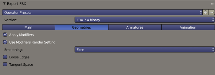 Blender FBX Export Geometries Options.png